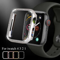 PC Shell Diamond Protective Case Watch Frame For Apple Watch Series 4 3 2 1