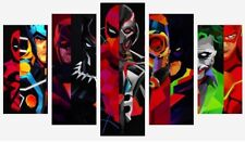 MARVEL DC SUPERHERO COMICS CARTOON SPLIT PANEL WALL ART CANVAS PICTURE PRINTS