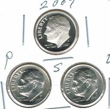 2007 Three Uncirculated Dime Types The San Francisco is From a Proof Set!