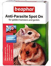 Beaphar Spot on Hamsters & Gerbils Ivermectin Wormer Lice Fleas Mites 4 Week