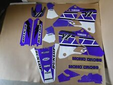 FLU  RETRO TEAM  GRAPHICS   YAMAHA YZ125 YZ250 1996 1997 1998 1999 2000 2001