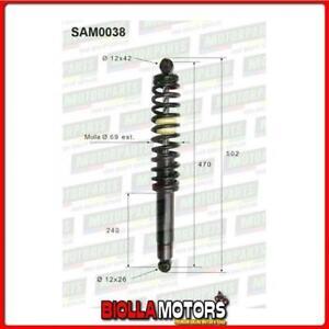 SAM0038 COPPIA AMMORTIZZATORI POSTERIORI MICROCAR CHATENET CH26 01,26,168  (MK03