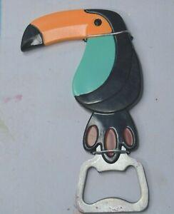Toucan Bottle Opener  New wtih shelf wear to packaging