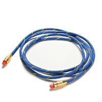 2M Premium Toslink Câble audio numérique à fibre optique Câble TV 6.5FT OD 5.0^-