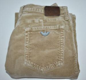 Armani Slim fit Comfort Fit Stretch Womens Jeans Beige Size 26W 32L HEM WEAR