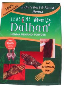 2 Pack Seasons Dulhan Hair & Hands 100g Henna Mehandi Powder Tattoo