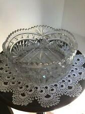 Vintage crystal glass fruit  bowl