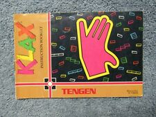 Klax manual - no game .... NES Nintendo