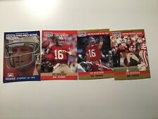 1990 Pro Set Football JOE MONTANA - 4 Card Lot - Hall of Famer