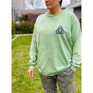 Vtg 90s Hypercolor Long Sleeve Shirt, Green, Generra, Hyper Grafix, USA Made, L