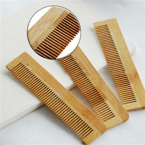Bamboo Wooden Comb Moustache Beard Hair Brush Scalp Massage Spa Anti-Static SG