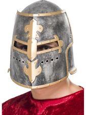 Romain Adulte Croisé Casque Plastique Médiéval Garde Chevalier Déguisement