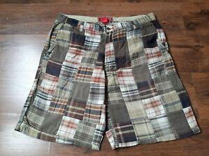 IZOD checkered mens shorts,multicolored,size-38