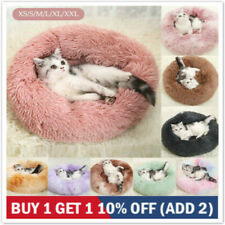 Warm Comfy Calming Dog/Cat Bed Round Super Soft Plush Pet Beds Marshmallow Nest