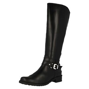 Ladies Clarks Riding Style Boots Nessa 'Abbey'