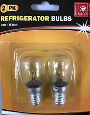Frigorífico-congelador 2X15 W Lámpara Bombilla/2800K 220-240V E14 1000 horas de tamaño real 26X54MM