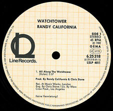 RANDY CALIFORNIA - Watchtower  (LINE, D 1982 / no cover / LP m-)