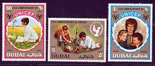 DUBAI 1971 UNITED NATIONS UNICEF CHILDREN SCOTT 152-3, C60