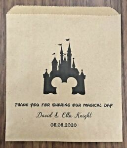 Personalised Disney Theme Wedding Sweet, Candy Cart, Cake & Favour Bags