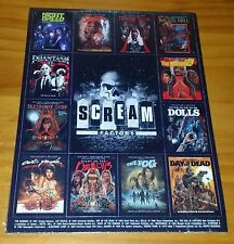 Scream Shout Factory Horror 2015 Magnet Set Promo Only RARE SEALED