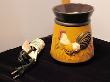 Vintage Rooster or Chicken Themed Scenstsy Wax Warmer in Earth Tones