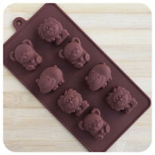 Little Animals Bear Hippo Lion Shaped Chocolate Mold Silicone Ice Cake Mould