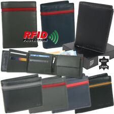 Herren Geldbörse Leder mit RFID-Schutz Portemonnaie in praktischer Geschenkbox