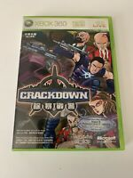 "Crackdown Xbox 360 Japan Version Super Rare "" Disc In Mint Conditions "" HTF"