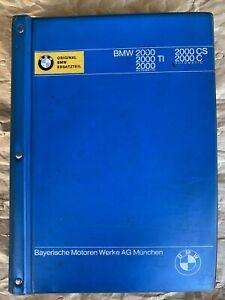 BMW NK 2000 1800 2000cs Parts Manual Catalogue