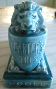 Poole Pottery Carter Tiles Lion Advertising Paperweight
