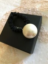Chanel Autentic Hair Band With Faux Large Pearl