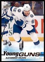2019-20 Series 2 Base Young Guns #488 Alexander Volkov - Tampa Bay Lightning