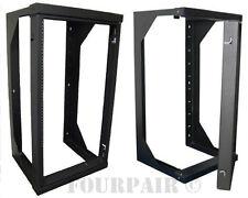 """Wall Mount Swing Out Gate Network IT Steel Cabinet Data Rack - 25U - 18"""" Depth"""