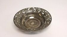Vintage Silver Plate Footed Bowl DishFancy Rose Edge 6-7/8""