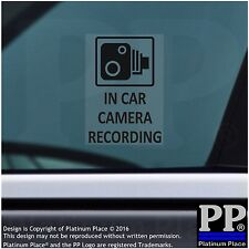 4 x In Car Camera Recording Window Stickers-BLACK-CCTV Security Signs-Van,Taxi