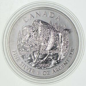 Better Date - 2013 Canada $5 - 1 Oz. Silver Wood Bison *699