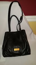 NWT Marc By Marc Jacobs New Q Fran  Weekender Shoulder Bag Black Leather $448