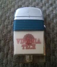 VINTAGE 1960s VIRGINIA TECH HOKIES  SCRIPTO LIGHTER,LOOKS AND WORKS GREAT,NOS