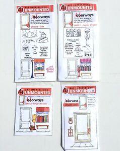 Lot Of 4 Ai Doorways Art Impressions Unmounted Original Rubber Stamps NOS