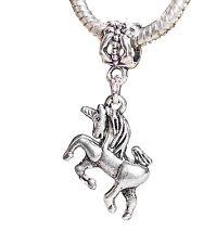 Unicorn Mythological Flying Horse Dangle Charm for European Bead Slide Bracelets