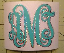 Monogram Holographic Silver Decal For Your Yeti Tumbler Rambler Colster