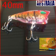 1 X Fishing Lures Hardbody 40mm Whiting Popper Bream Flathead Poppers Topwater