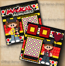 MAGICAL MEMORIES ~ DISNEY 2 premade scrapbook pages paper piecing  BY DIGISCRAP