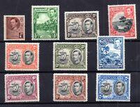 Grenada KGVI 1937-38 short LHM set to 2/- #152-161 WS17908
