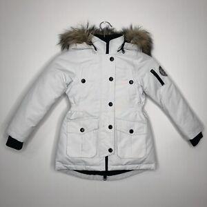 Diesel Girls 6 Years Casual White Winter Padded Warm Hooded Coat