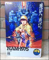 NAM-1975 Neo Geo Metal Wall Tin Sign SNK Retro Arcade Shoot em up Poster