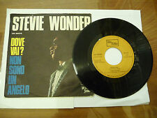 "STEVIE WONDER""DOVE VAI-disco 45 giri TAMLA Italy 1968""IN ITALIANO"