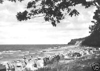 AK, Göhren Rügen, Blick zum Strand, belebt, 1973