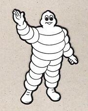 Bib Bibendum Michelin Man Standing Waving Sticker, Vintage Sports Car Racing