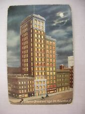 VINTAGE POSTCARD OF THE N. E. CORNER BROAD & HIGH STS. IN COLUMBUS, OHIO 1908